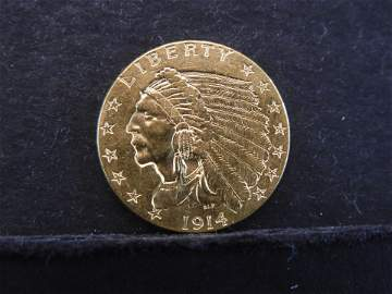 ** 1914 GOLD $2.5 Quarter Eagle - SUPER HIGH GRADE