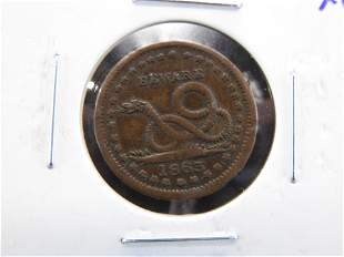 Civil War Token: The Union Must and Shall be Preserved