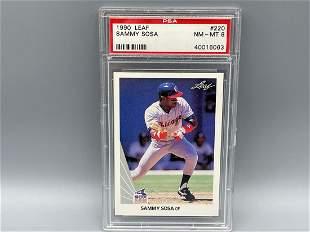 1990 Leaf Sammy Sosa RC #220 PSA 8