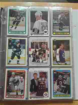 Album of Hockey Cards w/ Stars