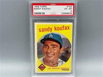 1959 Topps Sandy Koufax #163 PSA 4