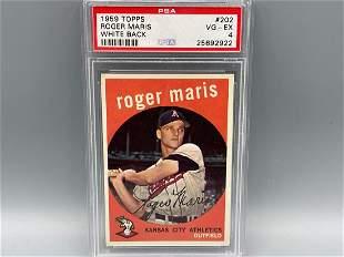 1959 Topps Roger Maris #202 PSA 4 - White Back