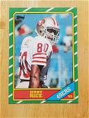 1986 Topps Football #181 Jerry Rice Rookie