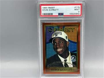 1995-96 Topps Finest Kevin Garnett RC #115 PSA 9 - Hot