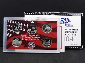 2004-S Silver State Quarters Proof Set:  Michigan, Fl,