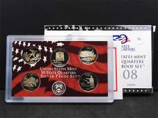 2008-S Silver State Quarters Proof Set:  Ok, NM,