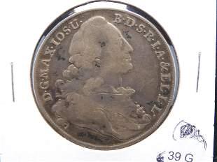1777 Bavaria Thaler - German States Nice