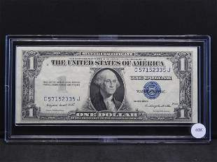 1935-G Crisp Uncirculated $1 Blue Seal Silver