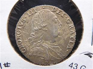 1787 Great Britain Silver Shilling High Grade - Lots of