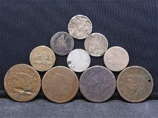 Grab Bag of U.S. Type Coins - Includes Large Cents &