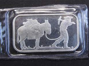 .999 One Troy Ounce Fine Silver Prospector Bar