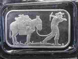 .999 One Troy Ounce Fine Silver Prospector Bar