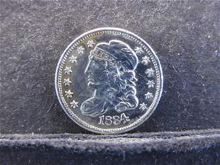 BEAUTIFUL 1834 Capped Bust Half Dime - NICE!