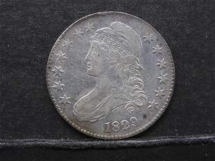 1829 – Capped Bust Half  Dollar ( Nice Luster & Blue