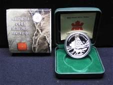 2003 Canada Cobalt Silver Strike.9999 silver Dollar in