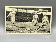1936 R313 National Chicle McQuinn To Stine Double Play