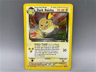 Pokemon Team Rocket Dark Raichu Holo #83/82