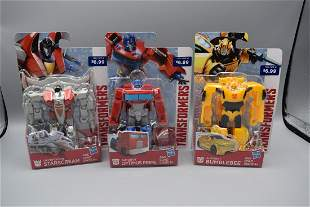 Transformers Lot of 3 Small Figures New On Card -