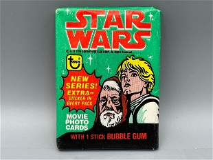 1977 Topps Star Wars Series 4 Unopened Wax Pack -