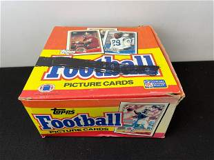 1988 Topps Football Unopened Cello Box - 23 Packs
