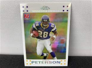 2007 Topps Chrome Adrian Peterson RC White Refractor