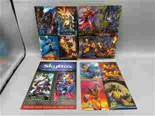 Lot of 4 Fleer/Skybox Uncut Card Promo Sheets -