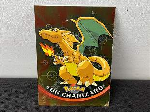 1999 Topps Pokemon Charizard #06 Foil Card