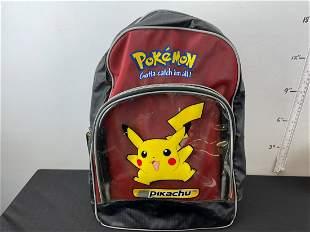 Vintage Pokemon Pikachu Backpack