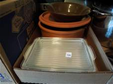 Pyrex covered refrigerator dish and misc. cook ware