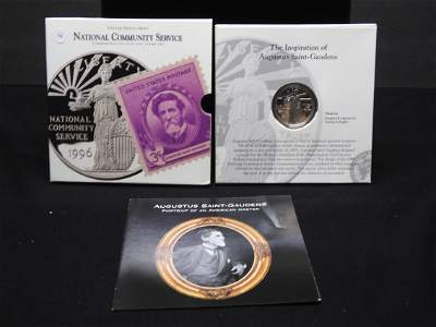 National Community Service Commemorative Coin and Stamp