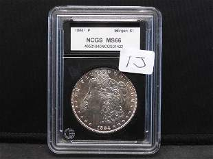 1884 MORGAN SILVER DOLLAR VERY BEAUTIFUL COIN (MS66