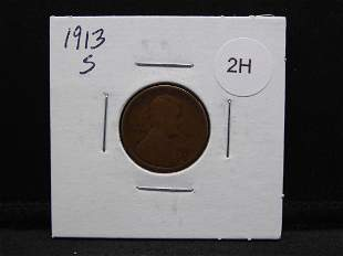 1913 S Lincoln Cent