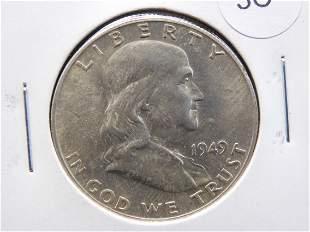 1949-S Franklin Half Dollar