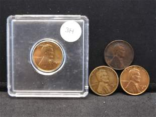 1931 D, 1932, 1933 D & 1936 S Lincoln Cents