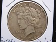 1928 Silver Peace Dollar UNCIRCULATED (KEY DATE)