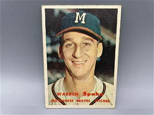 1957 Topps Warren Spahn #90