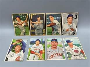 1952 Bowman Baseball Lot of 8 Cincinnati Reds - Varying