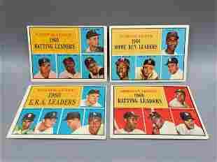 1961 Topps Baseball Lot of 4 Leaders Cards - Willie