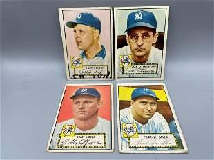1952 Topps Lot of 4 New York Yankees - Ralph Houk RC