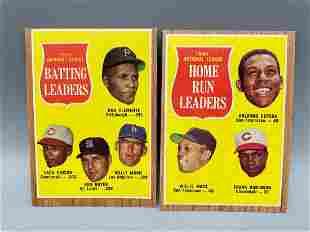 1962 Topps NL Batting Leaders #52 & NL HR Leaders #54 -