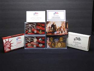2007-S US Mint Proof Set (7 silver proof coins, 10 of