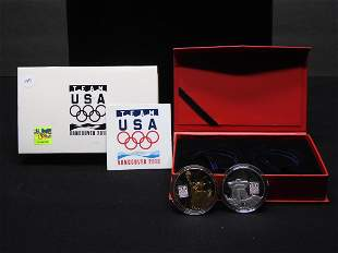 2010 Vancouver Olympic Team USA Medals 1 Gold Plated 1