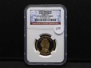 2008-S James Monroe Presidential Dollar By NGC PF 69