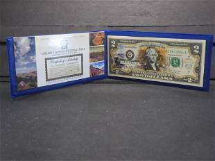 2003-A US Colorized Two Dollar Bank Note Grand Canyon