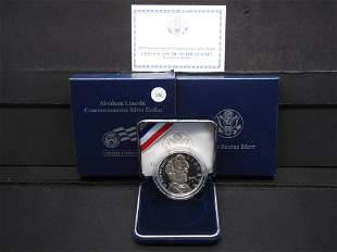 2009-P Abraham Lincoln Proof Silver Dollar By US Mint