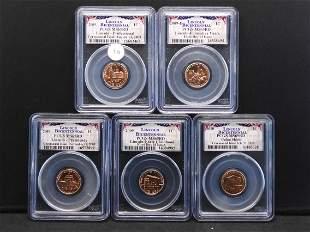 2009 P & D Lincoln Bicentennial Set PCGS MS65 Rd -