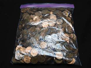 Five Pound Bag of Unsearched Lincoln Memorial Cents