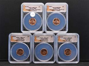 2009 P & D Lincoln Cents - Inaugural Edition ANACS MS67