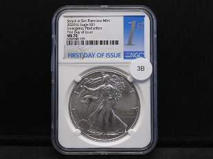 2020-S American Silver Eagle MS 70 Emergency Production