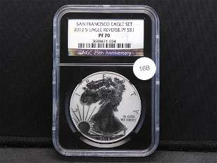 2012-S American Silver Eagle NGC 25th Anniversary
